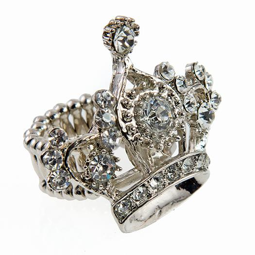 RA145: Crystal Crown Ring