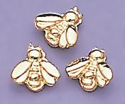 TA91G: Gold Baby Bee Tacks, dozen count