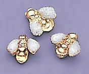 TA91PR: White Metallic Baby Bee Tacks, dozen count