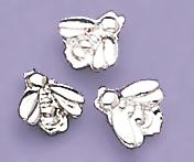 TA91S: Silver Baby Bee Tacks, dozen count