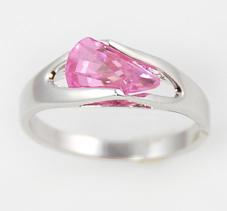 RA77: Fantasy Pink Ice CZ Ring