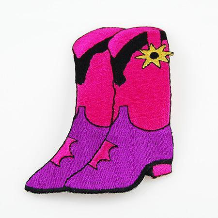 AB110: Pink Cowboy Boot Applique