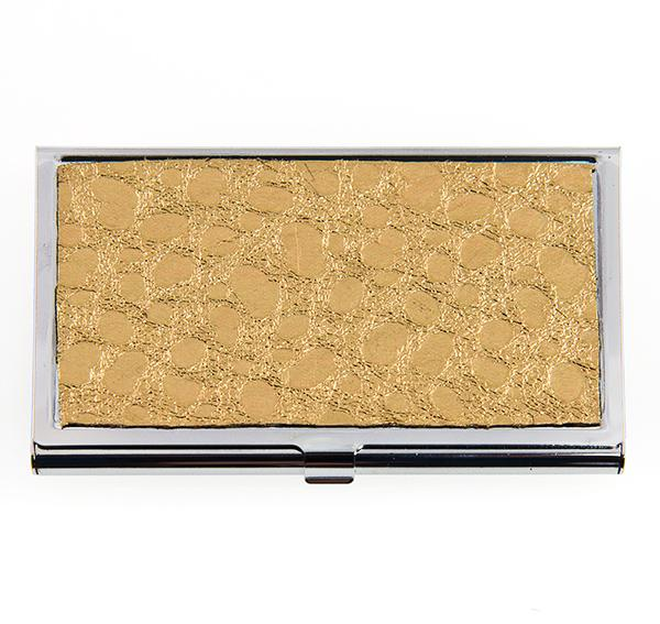 AB118T: Taupe Business Card Holder