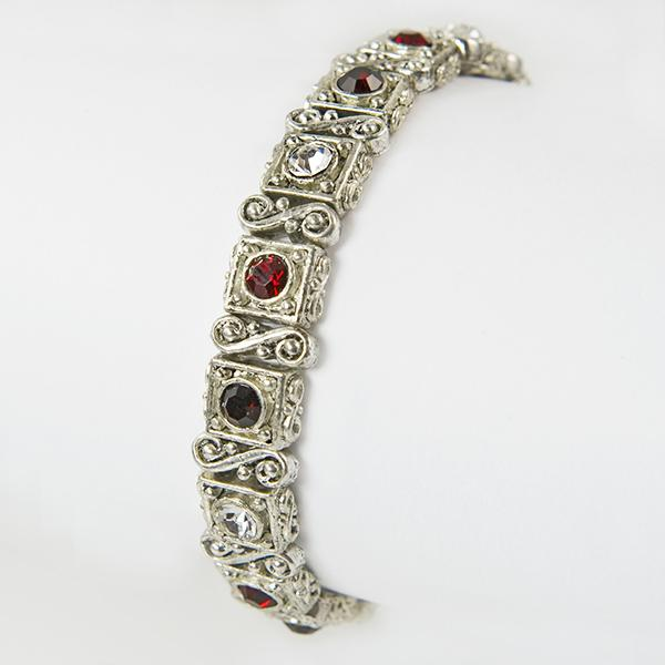 BR155R: Red Crystal Stretch Bracelet