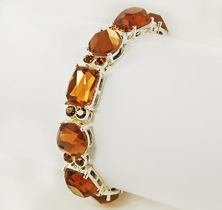 BR185T: Topaz Crystal Bracelet (Also in Clear)
