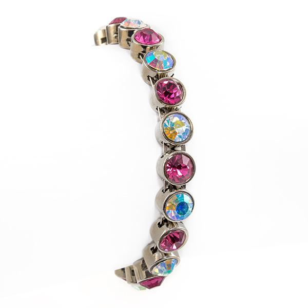 BR216PC: Pink and Clear AB Magnetic Bracelet