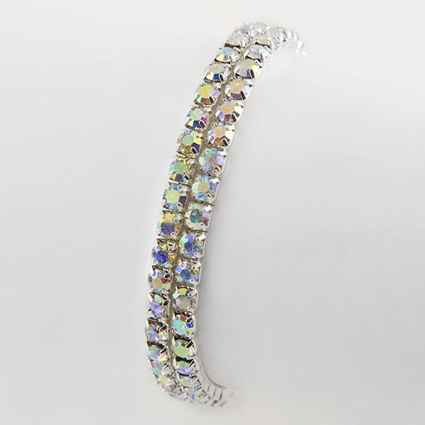 BR324AB: Double Strand Crystsal Bracelets (Available in AB, Clear or Black)