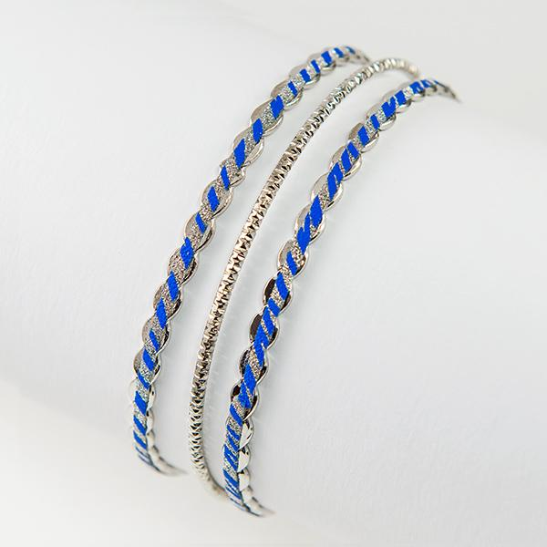 BR356:  Set of Diamond Dust Bracelets Assorted Colors