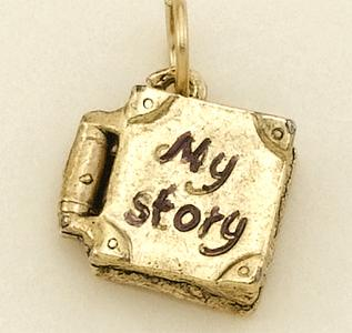 CH180GR: Gold My Story Book Charm