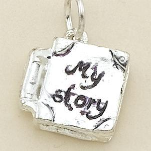 CH180SR: Silver My Story Book Charm