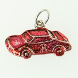 CH247: Red Race Car Charm in Silver