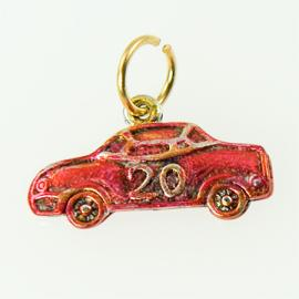 CH248: Red Race Car Charm in Gold