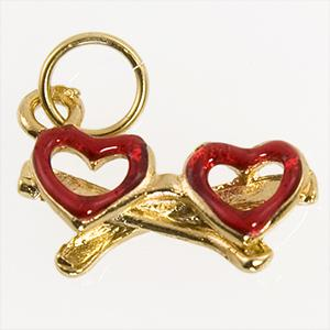 CH259: Heart Eyeglass Charm in Gold or Silver