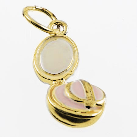 CH261PR: Swarovski Crystal Perfume Bottle Charm in Gold or Silver