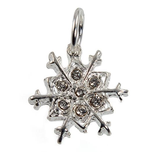 CH399: Snowflake Charm or Necklace
