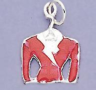 CH93: Red Jacket Charm in Silver or Gold