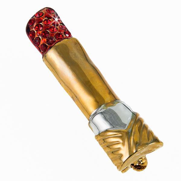 CL173: Gold Lipstick Pin