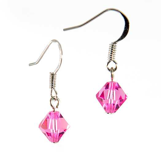 EA425: Pink Swarovski Earrings