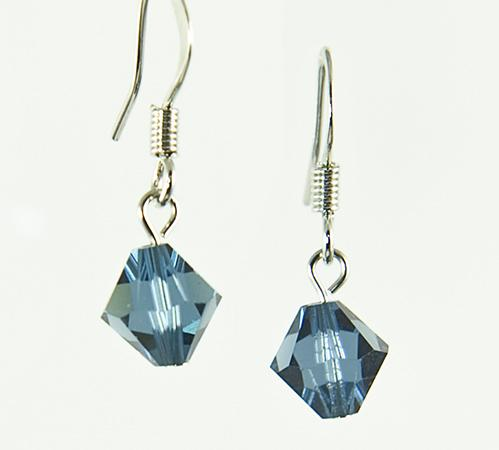 EA425S: Sapphire Crystal Octagon Earrings