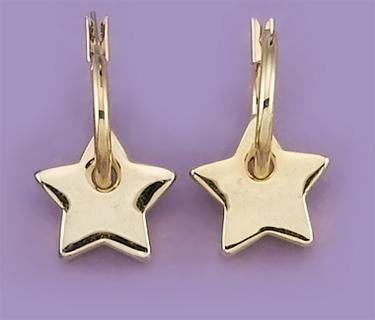 EA432: Star Earrings in Silver