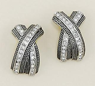 EA440: Antique Silver Extreme X Earrings