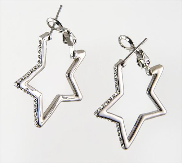 EA444: Austrian Crystal Star Earrings