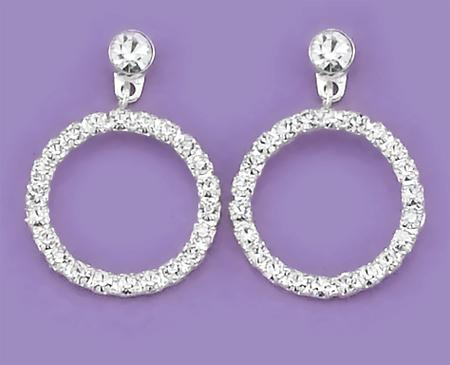 EA446: Circle of Excellence Crystal Earrings
