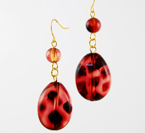 EA458: Animal Print Dangle Earrings