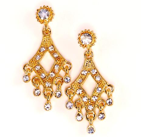 EA463: Delicate Gold/Silver Chandelier Earrings