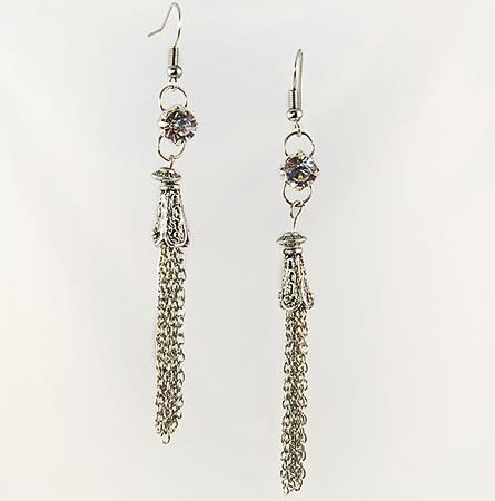 EA498: Multi-Strand Chandelier Earrings