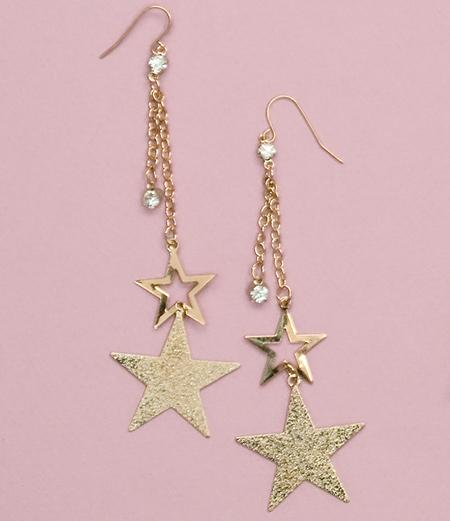 EA507: Dangle Star Earring with Crystal