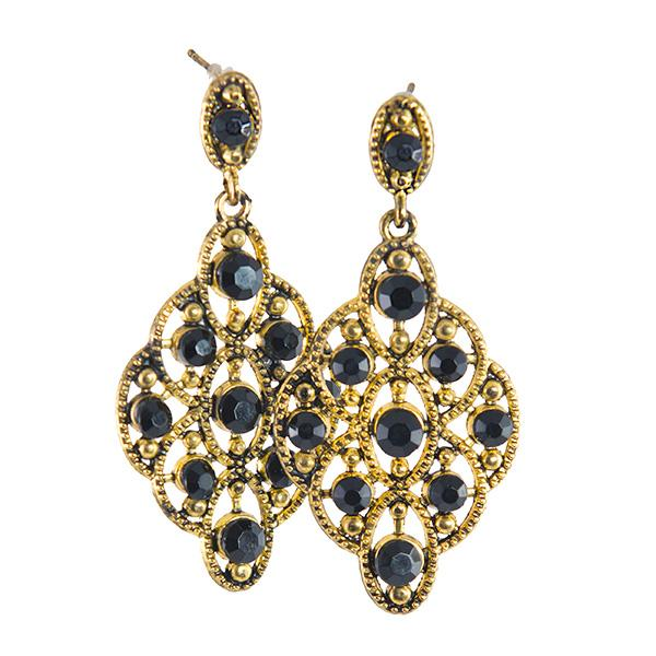 EA607: Elegant Crystal Earrings In Five Colors