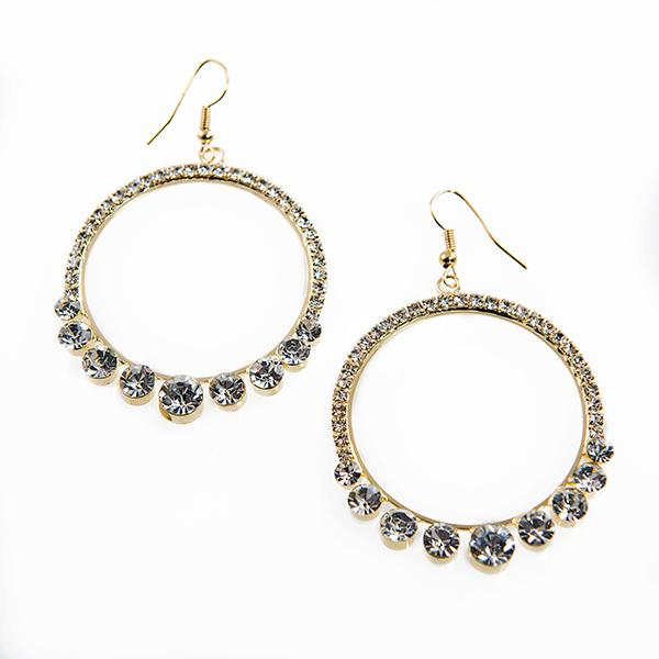 EA622: Elxquisite Crystal Hoop Earrings