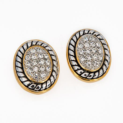 EA647: Brightenesque Crystal Oval Earrings