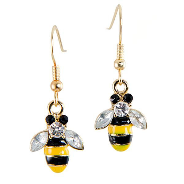 EA670: Cute Bee Earrings