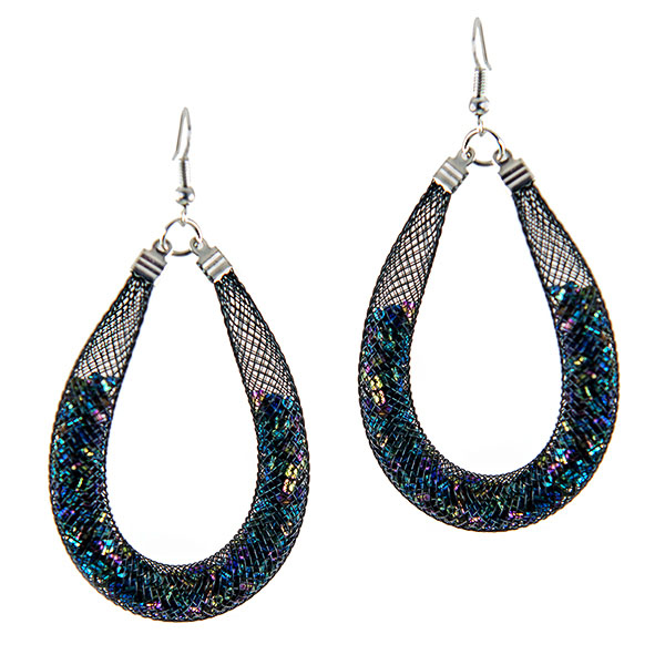 EA699: Black Illusion Earrings