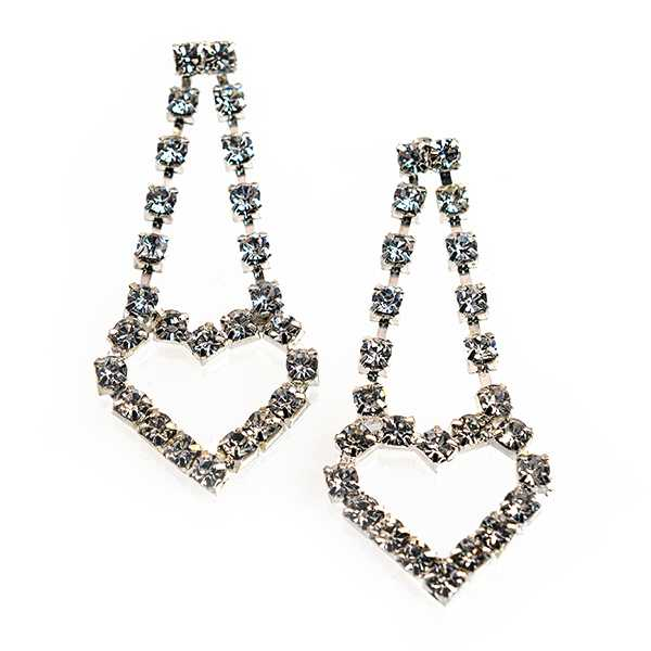 EA730: Crystal Heart Earrings
