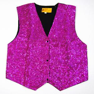 VE40: Fushia Sequin Vest