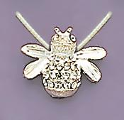 NA101S: Illusion Bee Necklace in Silver
