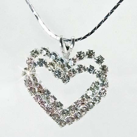 NA204: Double Crystal Heart Necklace
