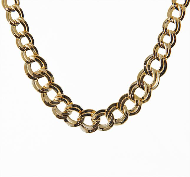 NA248: Gold Tiffany Style Necklace