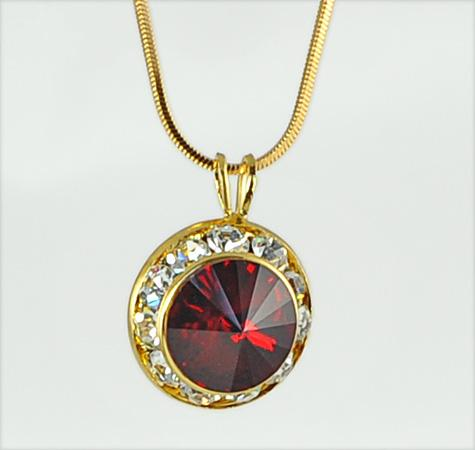 NA260: Swarovski Ruby Crystal Necklace