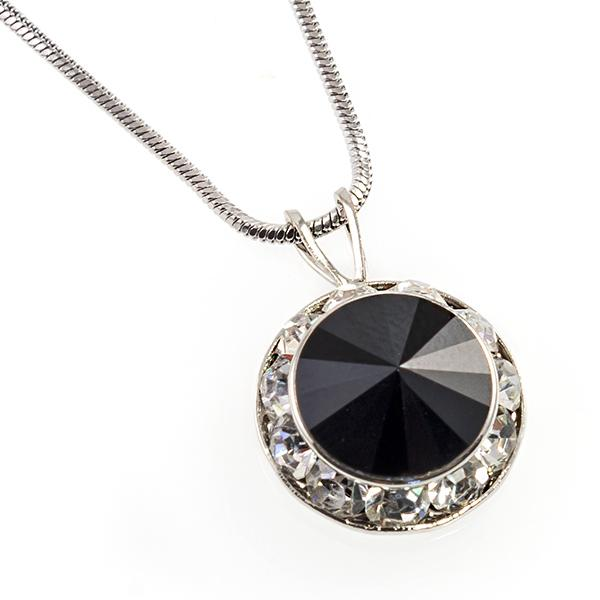 NA260BK: Black Swarovski Classic Necklace