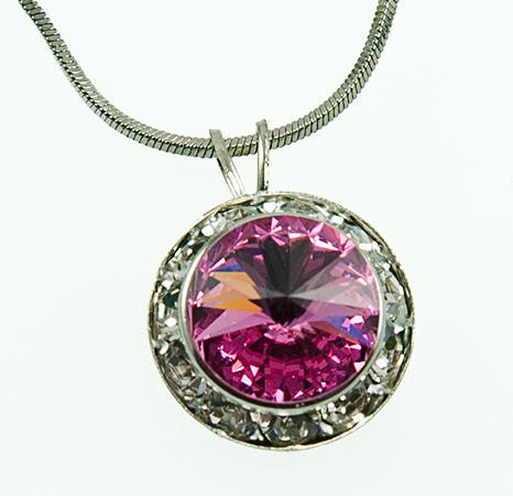 NA260P: Pink Swarovski Necklace