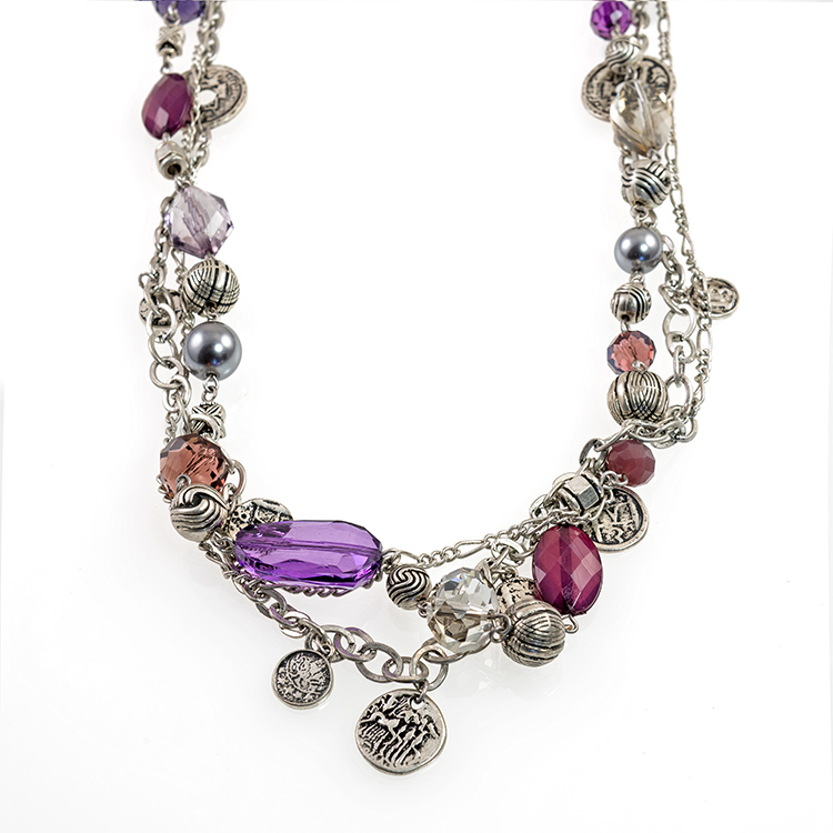 NA290: ExoticAmethyst Treasure Necklace