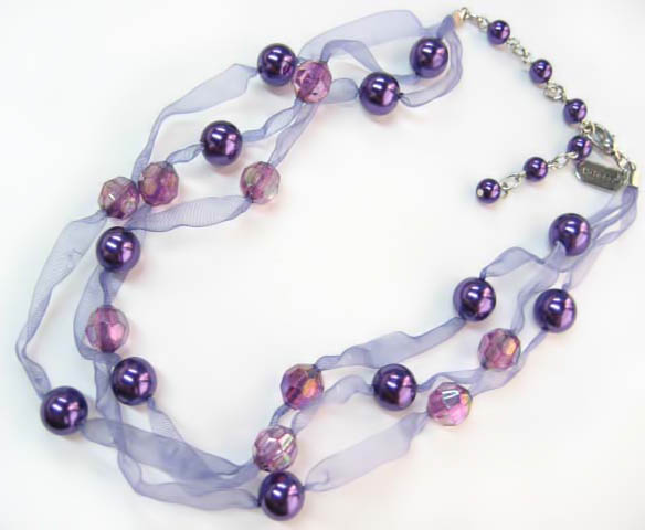 NA301:Amethyst Pearl Necklace