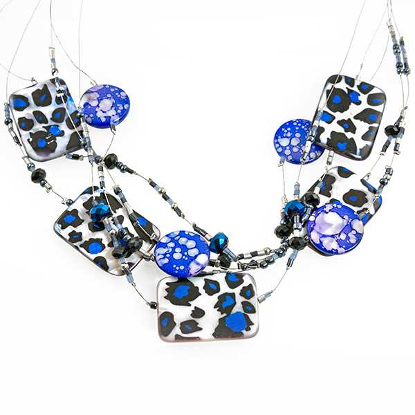 NA347: Leopard Mother of Pearl Necklace