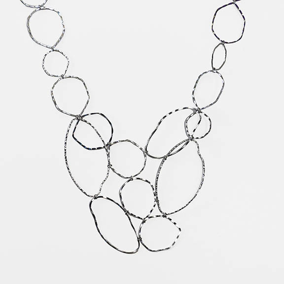 NA361: Cascading Silver Necklace