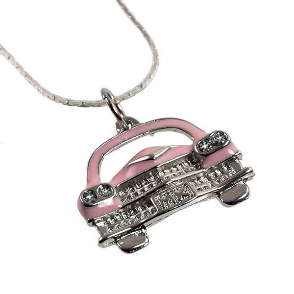 NA550: Pink Caddy Necklace