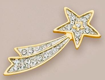 PA228: Shooting Star Pin with Austrian Crystals